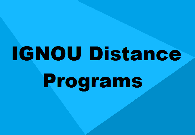 Ignou Distance Education Courses Eligibility Scope Details