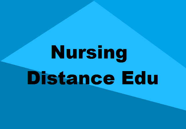 Nursing Courses Through Distance Learning Ug Pg Doctoral Level