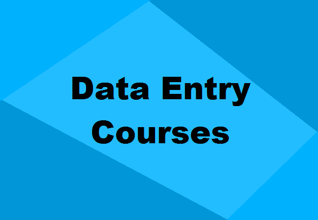 Data Entry Courses After 10th 12th Eligibility Duration Details