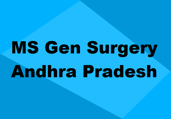 Ms General Surgery Colleges In Andhra Pradesh Seats Admission More
