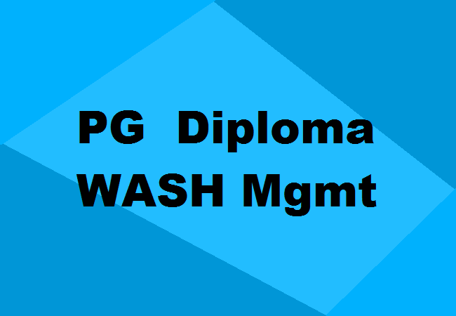 PG Diploma in WASH Management